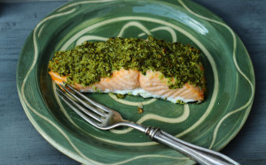 SUNSHINE, VITAMIN D AND A RECIPE FOR COCONUT-CRUSTED SALMON