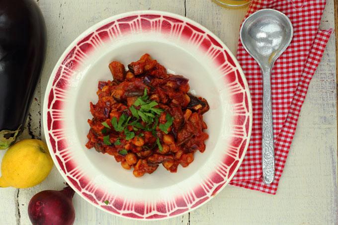 aubergine-chickpea-stew