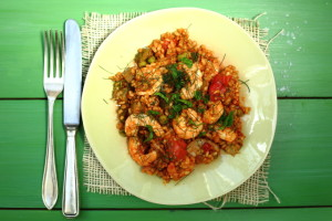 SHOULD I GO PESCETARIAN? AND PRAWN, PEA AND PEPPER PAELLA