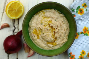 EATING LESS – WHITE BEAN AND ANCHOVY DIP