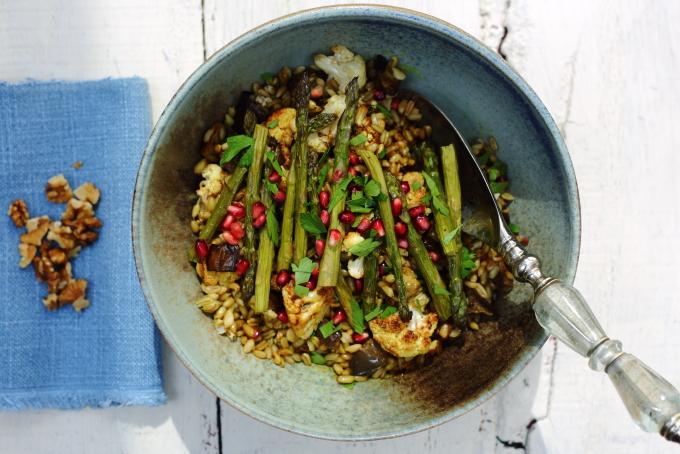 asparagus, cauliflower salad copy