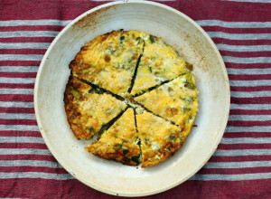 WHY A LINE OF FLOSS WILL KEEP YOU IN GOOD HEALTH – COURGETTE, LEEK & GRUYERE FRITTATA