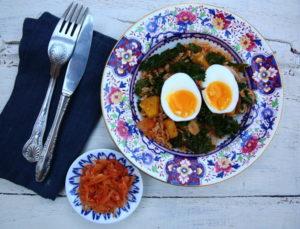 kimchi and eggs