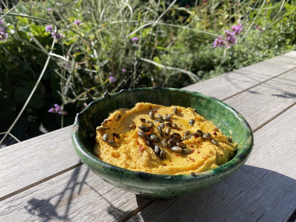 butternut hummus recipe, butternut squash, hummus picture