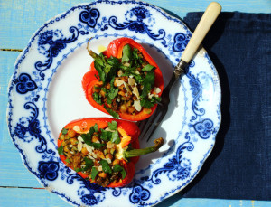 Can you live without a bacon sarnie? And a recipe for stuffed vegetables