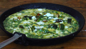 The Power of the Mediterranean Diet, picnicking Kale-and-Cocoa-style and a frittata.