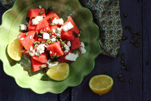 WHY WE SHOULD ALL BE EATING MORE WATERMELON – WATERMELON SALAD WITH FETA AND PUMPKIN SEEDS
