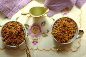 GET FAT TO BEAT DEMENTIA, REALLY? VITAMIN E AND A CRUMBLE RECIPE