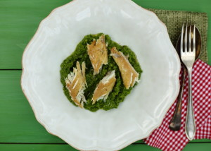 WHY YOU MIGHT NOT BE AS OLD AS YOU THINK – PEA & WATERCRESS PUREE WITH SMOKED MACKEREL