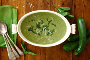 GET THEE TO A FOREST (ON FOOT) AND HERBY COURGETTE/ZUCCHINI SOUP